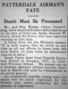 Samuel's death reported in the Herald