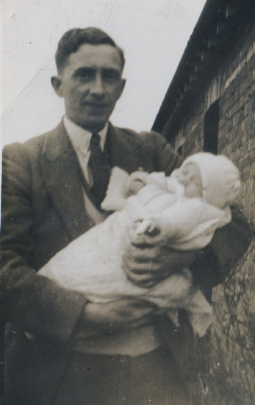 Frank Mallinson and his son