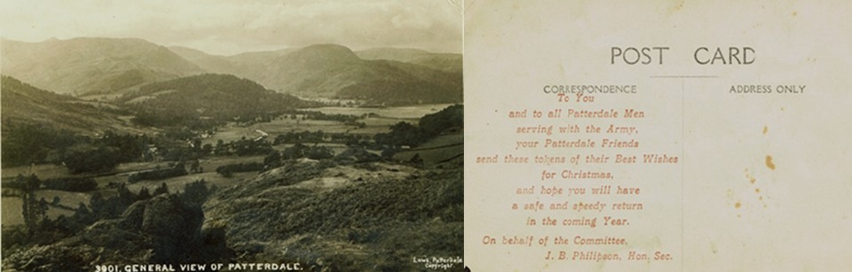 Patterdale WW1 Xmas Postcard