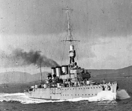 HMS Chester prior to the Battle of Jutland