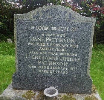 Glenthorne and Jane's Grave in Patterdale Churchyard