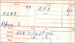 Alfred's Medal Card