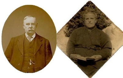Photos which were identified on the ancestry website as being Ernest's parents William and Isabella.