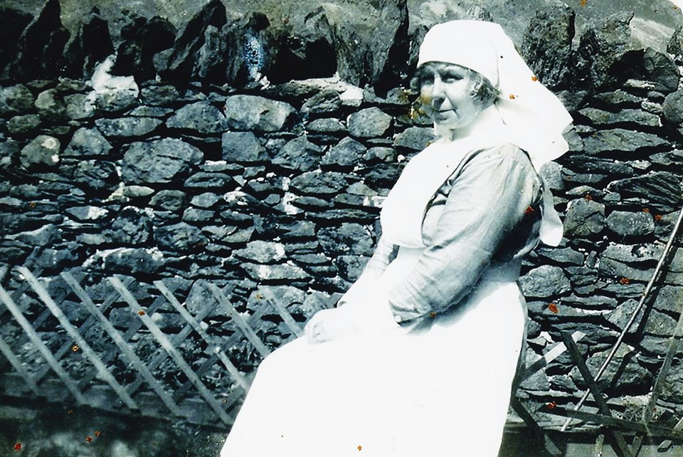 Alice Rebecca Greenhow (nee Banks) at Memorial Cottage Glenridding