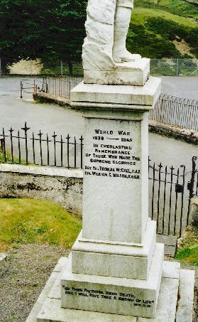 William's name on the Wanlockhead War Memorial