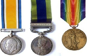 Captain Alex Lancaster WWI Medals